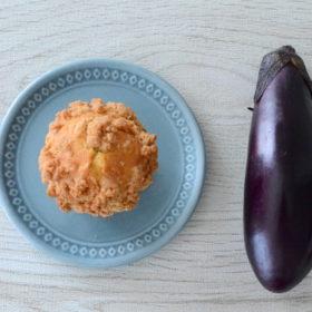 茄子&シナモンクランブルマフィン